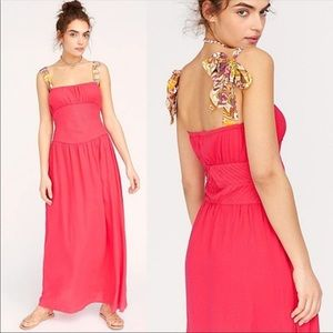 Free People hot pink maxi dress NWT size 2